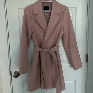 Dynamite blush pink overcoat